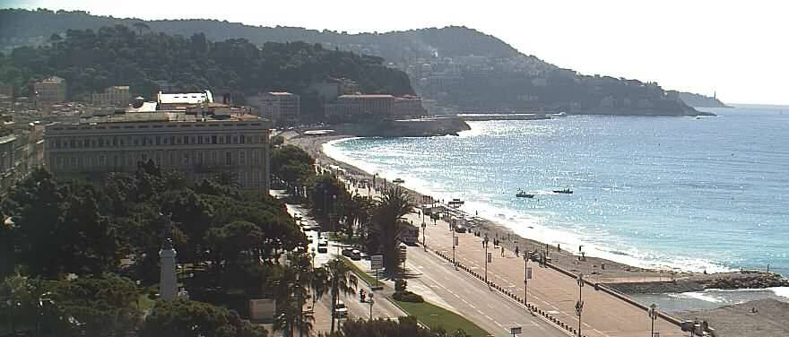 The famous Promenade des Anglais is only a short walk